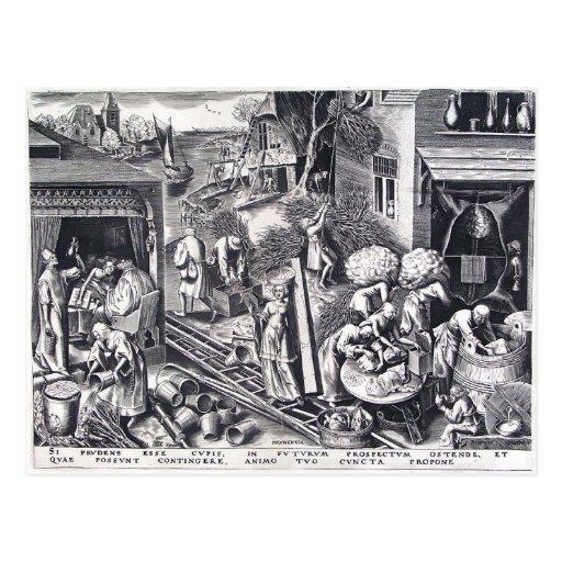 Prudencia de Pieter Bruegel la anciano Postales