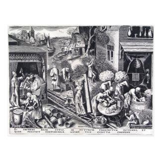 Prudencia de Pieter Bruegel la anciano Tarjetas Postales