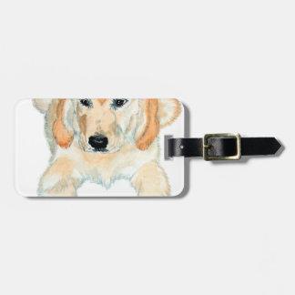 Prudencia el perrito inglés del perro perdiguero etiquetas para maletas