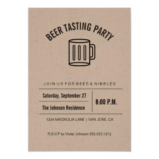 Prueba de la cerveza de la colección de Kraft Invitación 12,7 X 17,8 Cm