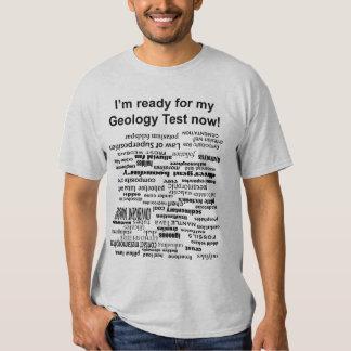 Prueba de la geología camisetas