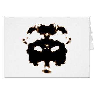 Prueba de Rorschach de una tarjeta de la mancha