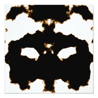 Prueba de Rorschach de una tarjeta de la mancha Invitación 13,3 Cm X 13,3cm