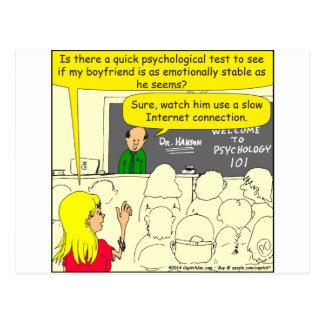 prueba psicológica 585 para el dibujo animado del postal