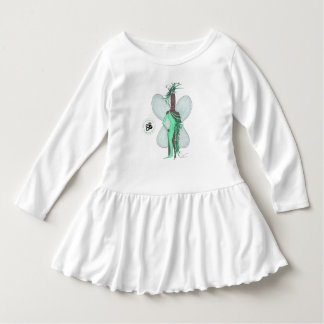 Pseudo vestido de la moda de la pluma del verde de