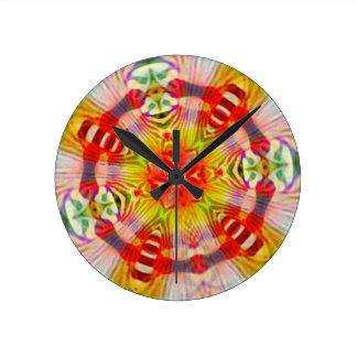 Psicodélico Reloj Redondo Mediano
