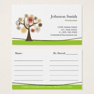 Psicólogo - árbol elegante de las citas de vida tarjeta de negocios