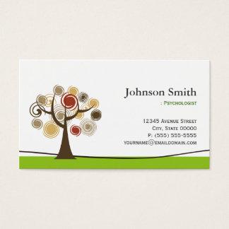 Psicólogo - árbol elegante del símbolo de la vida tarjeta de negocios