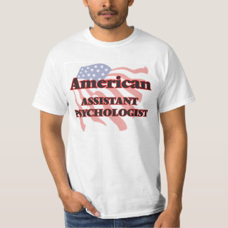 Psicólogo auxiliar americano camisetas