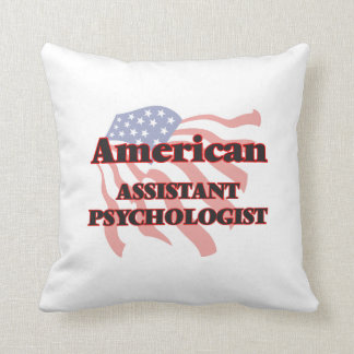 Psicólogo auxiliar americano cojín
