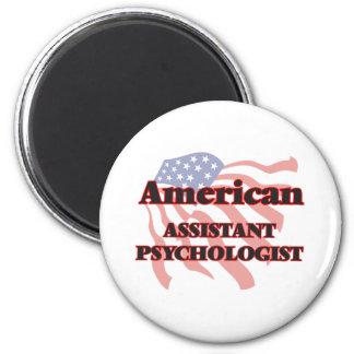 Psicólogo auxiliar americano imán redondo 5 cm