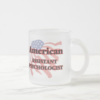 Psicólogo auxiliar americano taza de cristal
