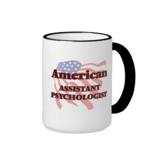 Psicólogo auxiliar americano taza de dos colores