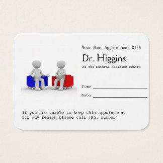 Psicólogo o asesoramiento de recordatorio de la tarjeta de negocios