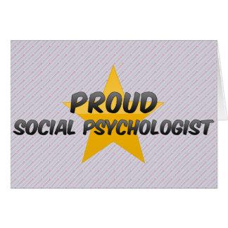 Psicólogo social orgulloso tarjeta de felicitación