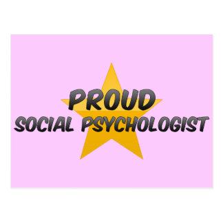 Psicólogo social orgulloso tarjetas postales
