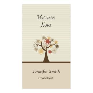 Psicólogo - tema natural elegante tarjetas de visita