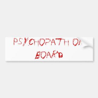 psicópata a bordo pegatina para coche