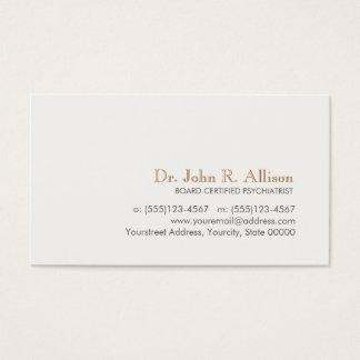 Psiquiatra profesional simple y elegante tarjeta de negocios
