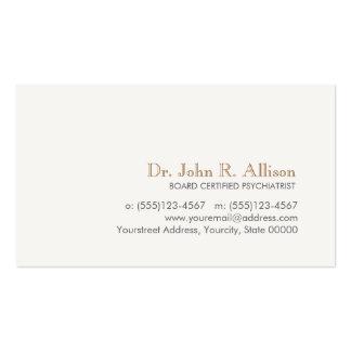 Psiquiatra profesional simple y elegante tarjetas de visita