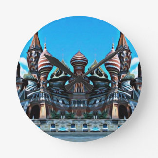 Psycgedelic Moscú Reloj Redondo Mediano