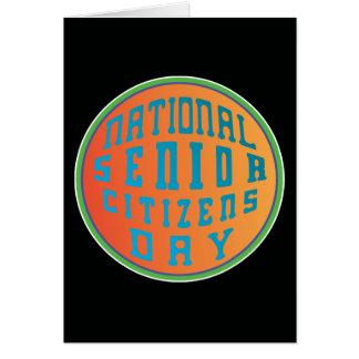Psychedelia nacional del día de los jubilados tarjeta de felicitación