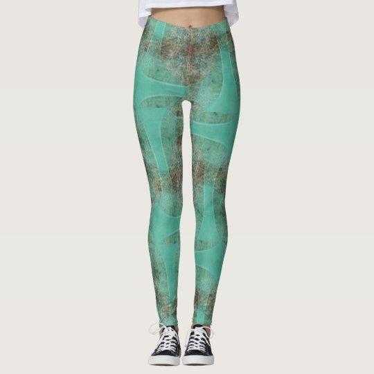 ★Psydefx★ verde orgánico de las polainas del robot Leggings