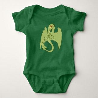 Pterosaur verde body para bebé