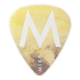 Púa De Guitarra Acetal amarillo con el nombre, guitarra-jugadores frescos