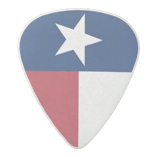 Púa De Guitarra Acetal Bandera azul blanca roja de Tejas