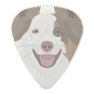 Púa De Guitarra Acetal Border collie feliz de la cara de los perros del