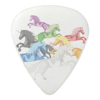 Púa De Guitarra Acetal Unicornios salvajes coloridos del ejemplo