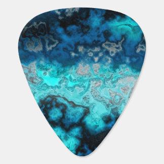 Púa De Guitarra Ágata azul