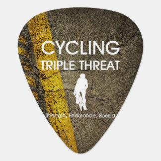 Púa De Guitarra Amenaza triple de ciclo SUPERIOR