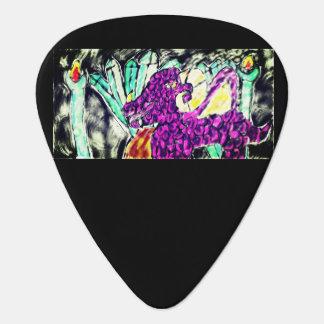 Púa De Guitarra arte del diamante del dragón