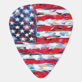 Púa De Guitarra Bandera americana