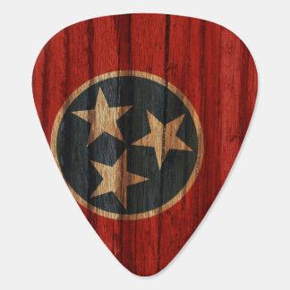 Púa De Guitarra Bandera apenada de Tennessee