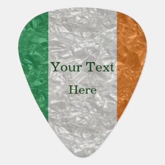 Púa De Guitarra Bandera de Irlanda - arrugada
