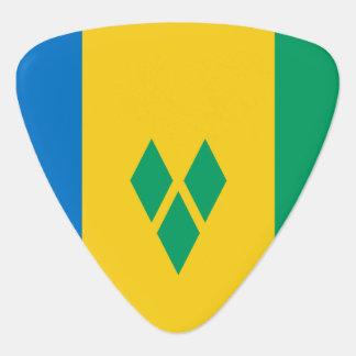 Púa De Guitarra Bandera de San Vicente y las Granadinas