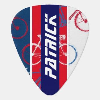 Púa De Guitarra bici inspirada con personalizado-nombre