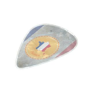 Púa De Guitarra Celuloide Nacarado Bandera francesa