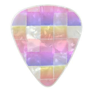 Púa De Guitarra Celuloide Nacarado Cubista geométrico del iPanema del cubo colorido
