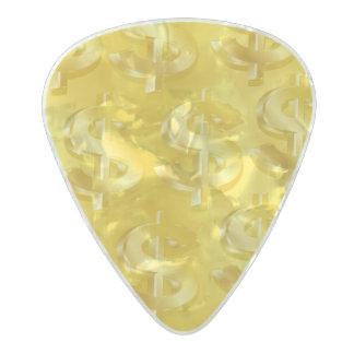 Púa De Guitarra Celuloide Nacarado $ de oro $