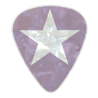 Púa De Guitarra Celuloide Nacarado Estrella (-)/púas de guitarra medias del indicador