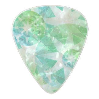 Púa De Guitarra Celuloide Nacarado Mirada del diamante artificial del compás de la