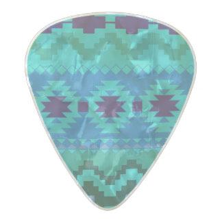 Púa De Guitarra Celuloide Nacarado Modelo abstracto tribal vibrante