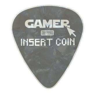 Púa De Guitarra Celuloide Nacarado Moneda del parte movible del videojugador