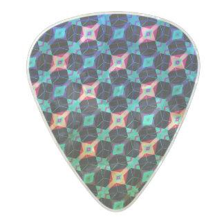 Púa De Guitarra Celuloide Nacarado Mosaico geométrico del diamante del enrejado