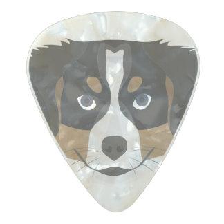 Púa De Guitarra Celuloide Nacarado Perro de montaña de Bernese del ilustracion
