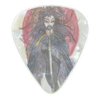 Púa De Guitarra Celuloide Nacarado Rey de la selección nacarada de las espadas